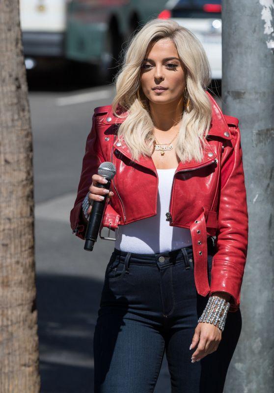 """Bebe Rexha Arriving to Appear on """"Jimmy Kimmel Live!"""" in LA 06/09/2017"""