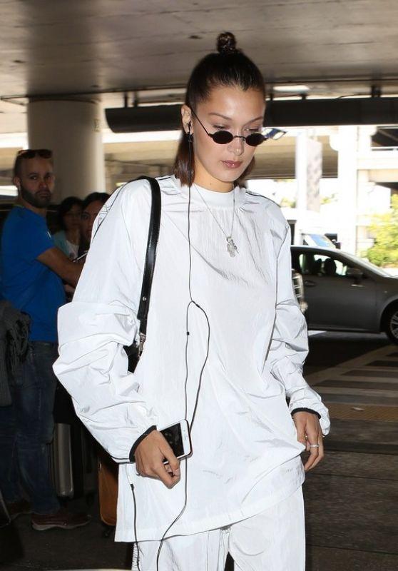 Bella Hadid at LAX Airport 06/21/2017