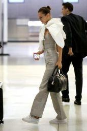 Bella Hadid at the JFK Airport in New York 06/11/2017
