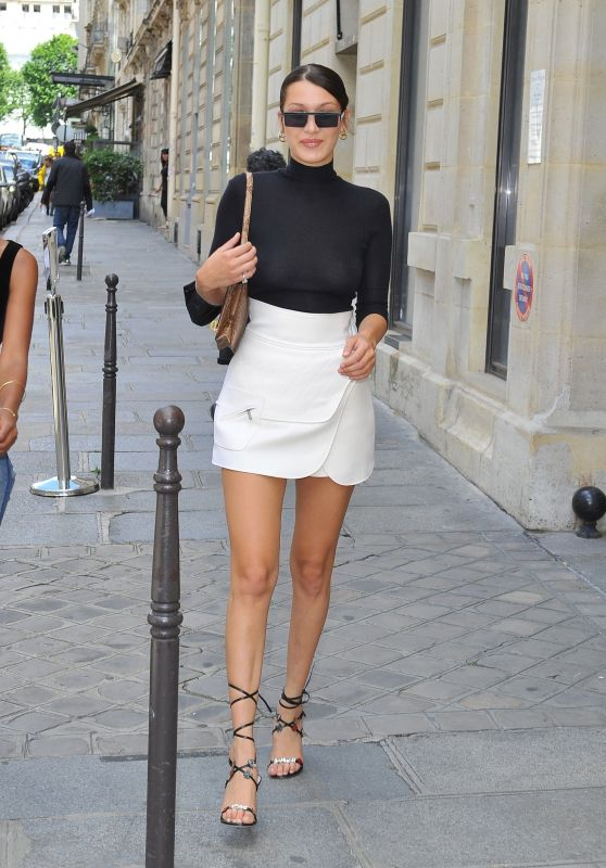 Bella Hadid - Goes to Lunch With a Friend in Paris 06/09/2017