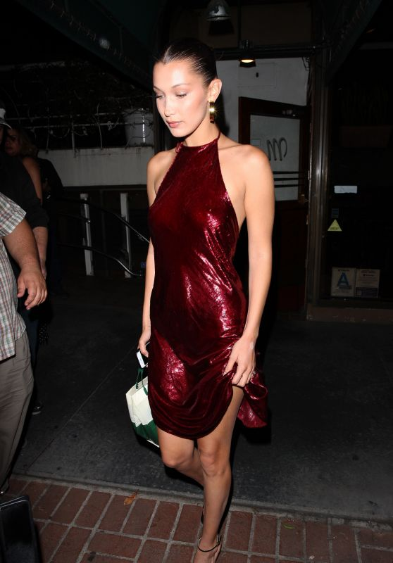 Bella Hadid - Leaves Madeo Restaurant in West Hollywood 06/18/2017