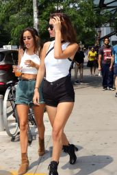 Bella Hadid Shows Off Her Legs in a Pair of Short Shorts - East Village, NYC 06/13/2017