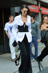 Bella Hadid Shows Off Her Style - NYC 06/12/2017