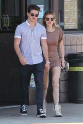 Bella Thorne in Mini Dress - Leaving Rite Aid with Gregg Sulkin in Studio City 06/05/2017