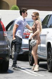 Bella Thorne in Mini Dress - Leaving Rite Aid with Gregg Sulkin in Studio City 06/05/2017