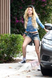 Bella Thorne Leggy in Jeans Shorts - Out in Los Angeles 06