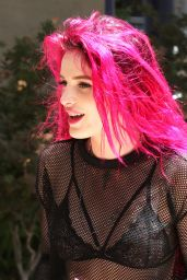 Bella Thorne Shows off Her New Freshly Bright Red Dyed Hair - Los Angeles 06/14/2017