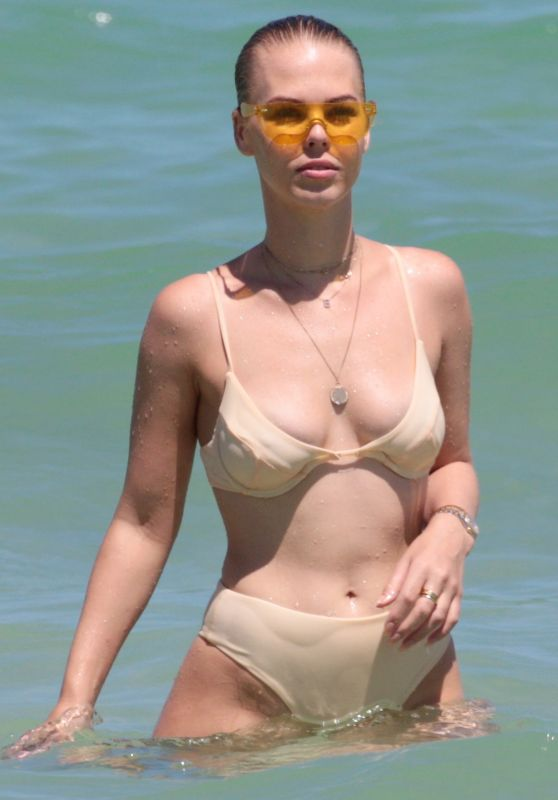 Bianca Elouise in Bikini at the Beach in Miami 06/25/2017