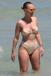 Bianca Elouise in Bikini at the Beach in Miami 06/25/2017