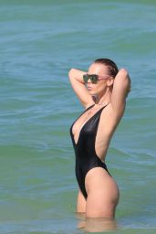 Bianca Elouise in One Piece Swimsuit in Miami, FL 06/23/2017