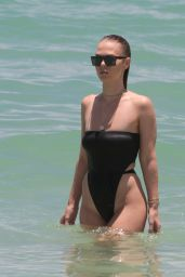Bianca Elouise in Swimsuit at Miami Beach 06/24/2017
