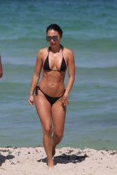 Bre Tiesi in a Bikini - Beach in Miami 06/15/2017