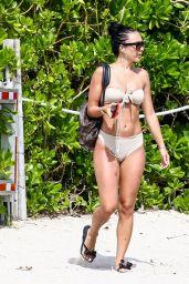 Breana Tiesi and Jordan - Beach in Miami 06/14/2017