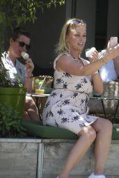 Bridget Maasland at a Beach Bar in Barcelona, Spain 06/18/2017