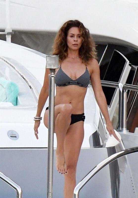 Brooke Burke in Bikini Striking Some Yoga Poses - Amalfi, Italy 06/24/2017