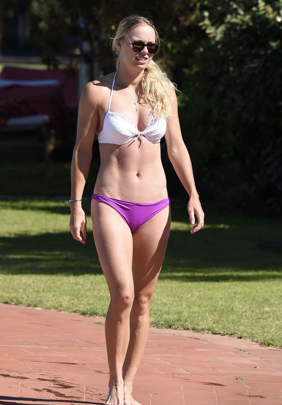 Caroline Wozniacki in Bikini - Vacation in Italy 06/13/2017