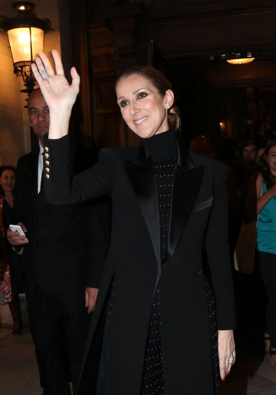 Celine Dion - Leaves Opera Garnier in Paris, France 06/13/2017
