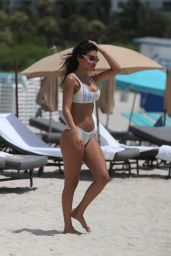 Chantel Jeffries in Bikini - Beach in Miami 06/13/2017