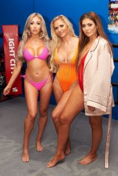 Chloe Ferry in Red Swimsuit - Ex On The Beach Series 7 Photocall in London 06/20/2017