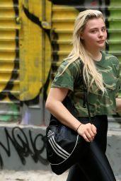 Chloe Grace Moretz in Spandex - Leaving Soul Cycle in New York City 06/23/2017