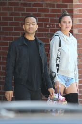 Chrissy Teigen and John Legend - Stop by a Local Guitar Center in Boston 06/19/2017