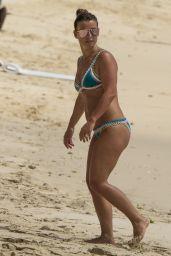 Coleen Rooney in a Green Bikini - Barbados, May 2017