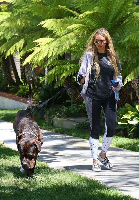 Corinne Olympios - Walks Her Dog in LA 06/17/2017