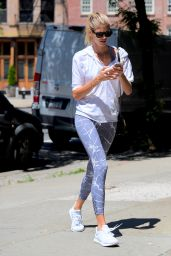 Devon Windsor in Marble Leggings - NYC 06/26/2017