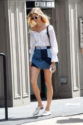 Devon Windsor Leggy in Mini Skirt - NYC 06/09/2017