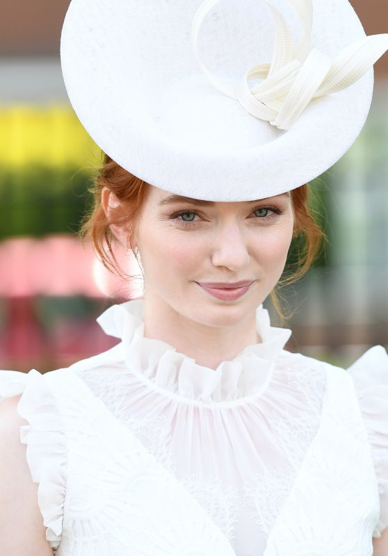 Eleanor Tomlinson at Royal Ascot in London 06/21/2017