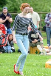 Eleanor Tomlinson at the Adlestrop Open Day and Fun Dog Show in Gloucestershire, UK 06/11/2017