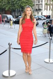 Elizabeth Hurley in Red Dress - V&A Summer Party in London 06/21/2017