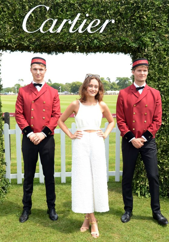 Ella Purnell – Cartier Queen's Cup Polo Tournament Final in Berkshire 06/18/2017