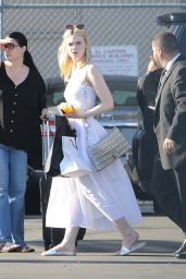 Elle Fanning Arriving to Appear on on Jimmy Kimmel Live! in Hollywood 06/18/2017