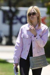 Elle Fanning in a Pink Jacket - Los Angeles 06/13/2017