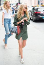Elsa Hosk Chic Street Style - Out in NYC 06/21/2017
