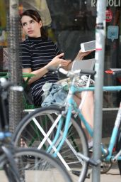 """Emma Roberts - """"Little Italy"""" Filming in Toronto, Canada 06/14/2017"""