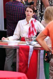 "Emma Roberts - ""Little Italy"" Set in Toronto 06/15/2017"