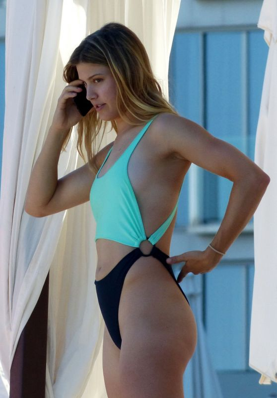 Eugenie Bouchard in A Bikini - Beach in Madrid 06/22/2017