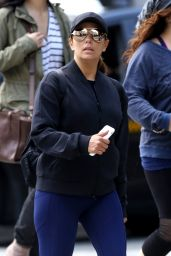 Eva Longoria in Tights - Out in Vancouver 06/11/2017
