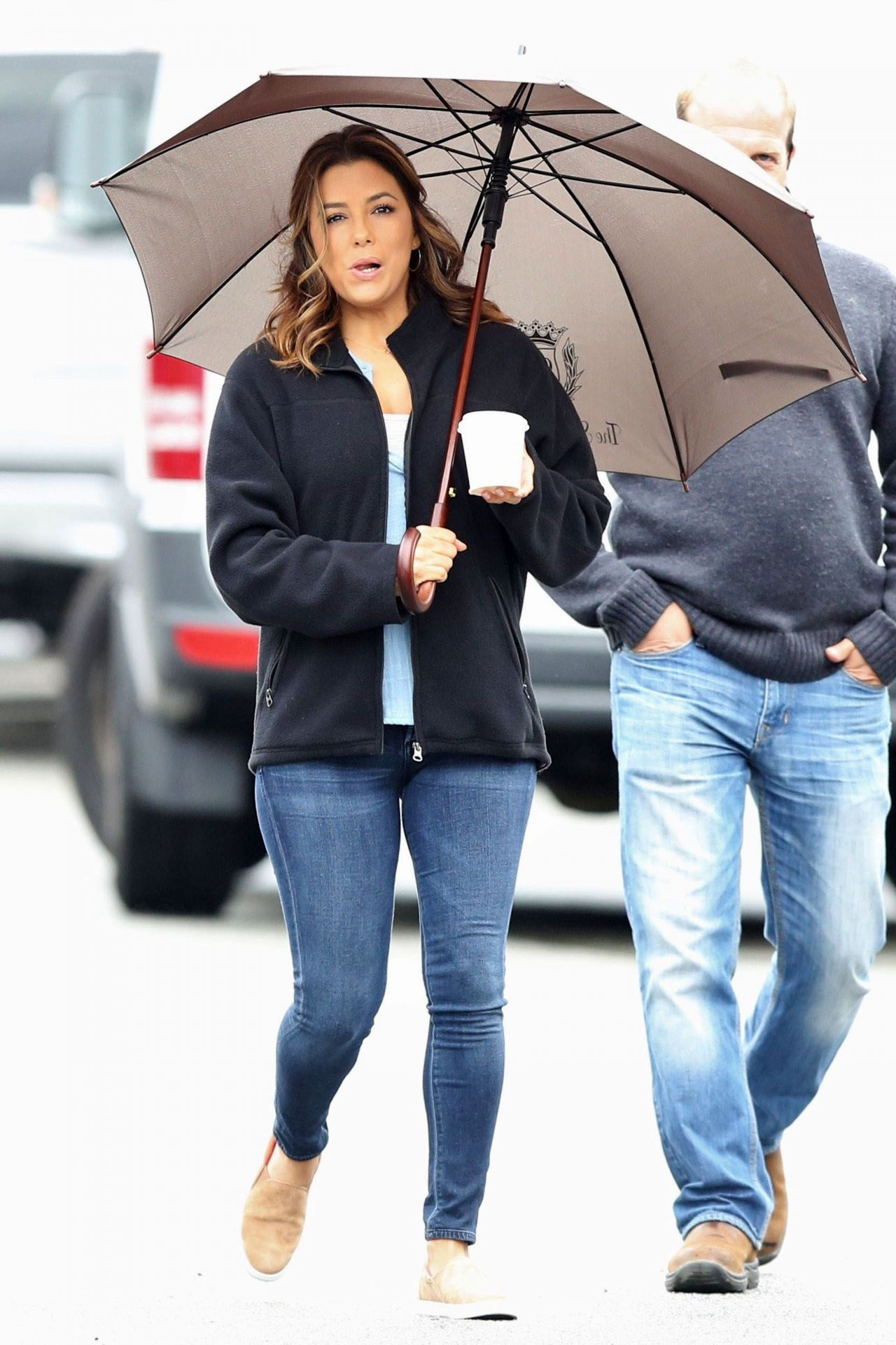 Eva longoria on the set of overboard in vancouver - 2019 year