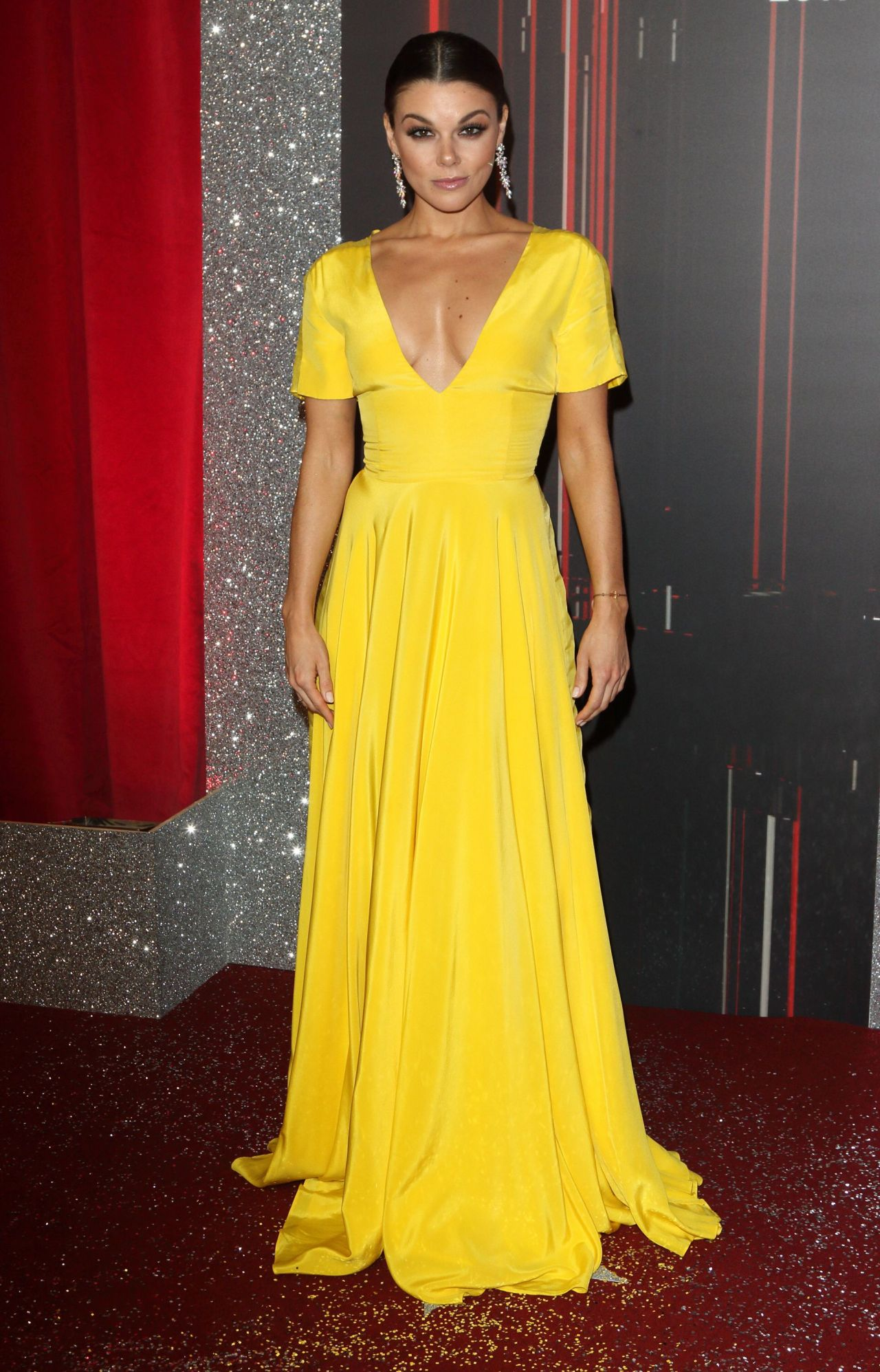 Faye Brookes On Red Carpet British Soap Awards In