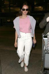 Felicity Jones at LAX in Los Angeles 06/26/2017