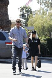 Fergie and Josh Duhamel at Sunday Church Service in Brentwood 06/25/2017