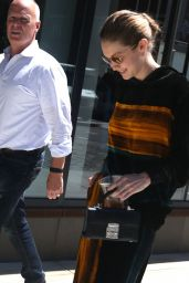 Gigi Hadid in a Hip Black and Orange Matching Outfit - NYC 06/20/2017