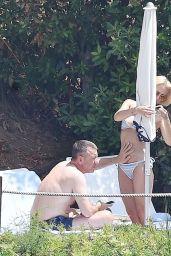 Gillian Anderson Bikini Candids - Vacation in Portofino, Italy 06/21/2017