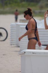 Hailey Baldwin in a Camouflage Bikini by ViX Swimwear - Miami Beach 06/11/2017