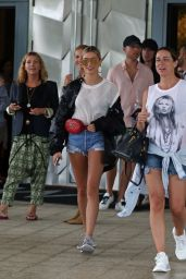 Hailey Baldwin in Jeans Shorts - Leaving Her Hotel in Miami 06/09/2017