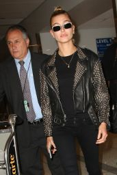 Hailey Baldwin - LAX Airport in Los Angeles 06/07/2017