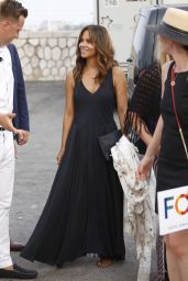 Halle Berry - Arriving at a Party on Board a Yacht in Cannes 06/22/2017